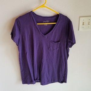 Universal Thread Purple Monteray V-Neck Tee